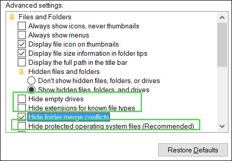 Những thiết lập cài đặt mặc định trên Windows 10 15