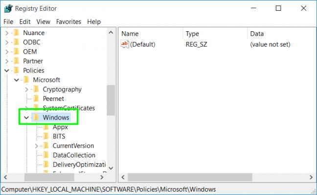 Những thiết lập cài đặt mặc định trên Windows 10 32