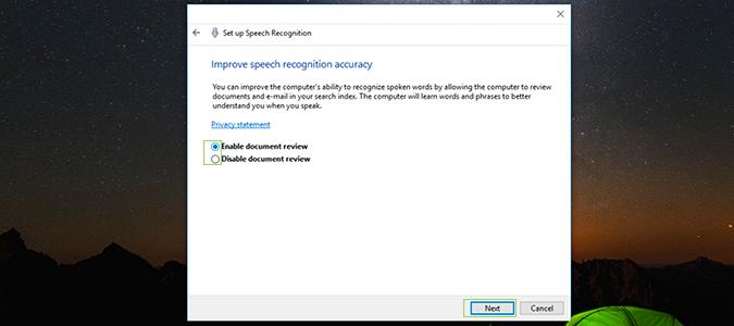 Cách cài đặt, kích hoạt Speech Recognition điều khiển giọng nói trên Windows 10 6