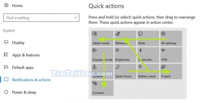 Cách tùy chỉnh Action Center trên Windows 10 truy cập nhanh tác vụ 6