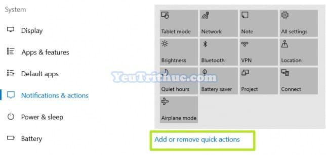 Cách tùy chỉnh Action Center trên Windows 10 truy cập nhanh tác vụ 7