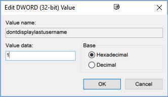 Cách ẩn tên và địa chỉ email trên màn hình login Windows 10 10