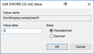 Cách ẩn tên và địa chỉ email trên màn hình login Windows 10 13
