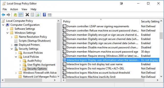Cách ẩn tên và địa chỉ email trên màn hình login Windows 10 4