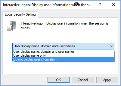 Cách ẩn tên và địa chỉ email trên màn hình login Windows 10 5