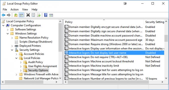 Cách ẩn tên và địa chỉ email trên màn hình login Windows 10 6