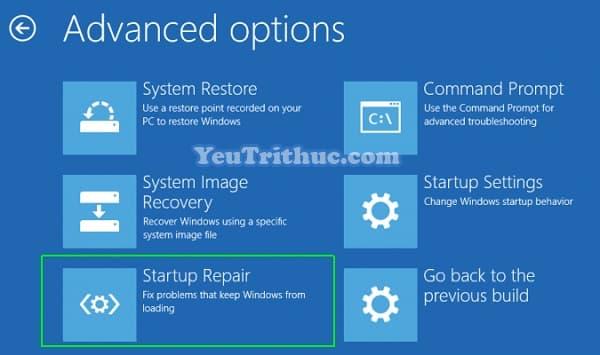 Cách sửa lỗi Repair Windows 10 không khởi động vào hệ thống 3
