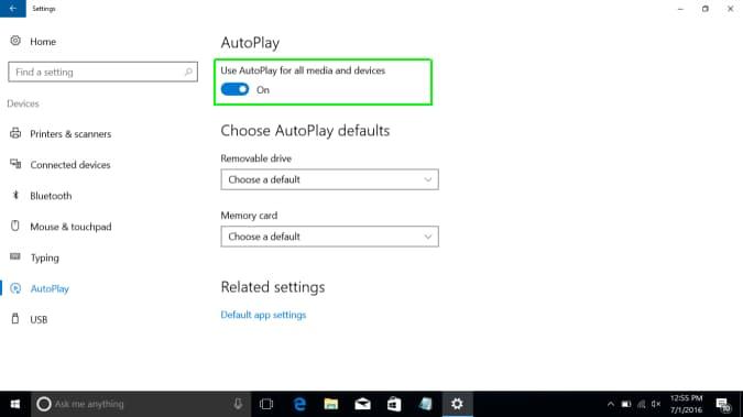 Cách vô hiệu hóa, tùy chỉnh cài đặt Autoplay trên Windows 10 3