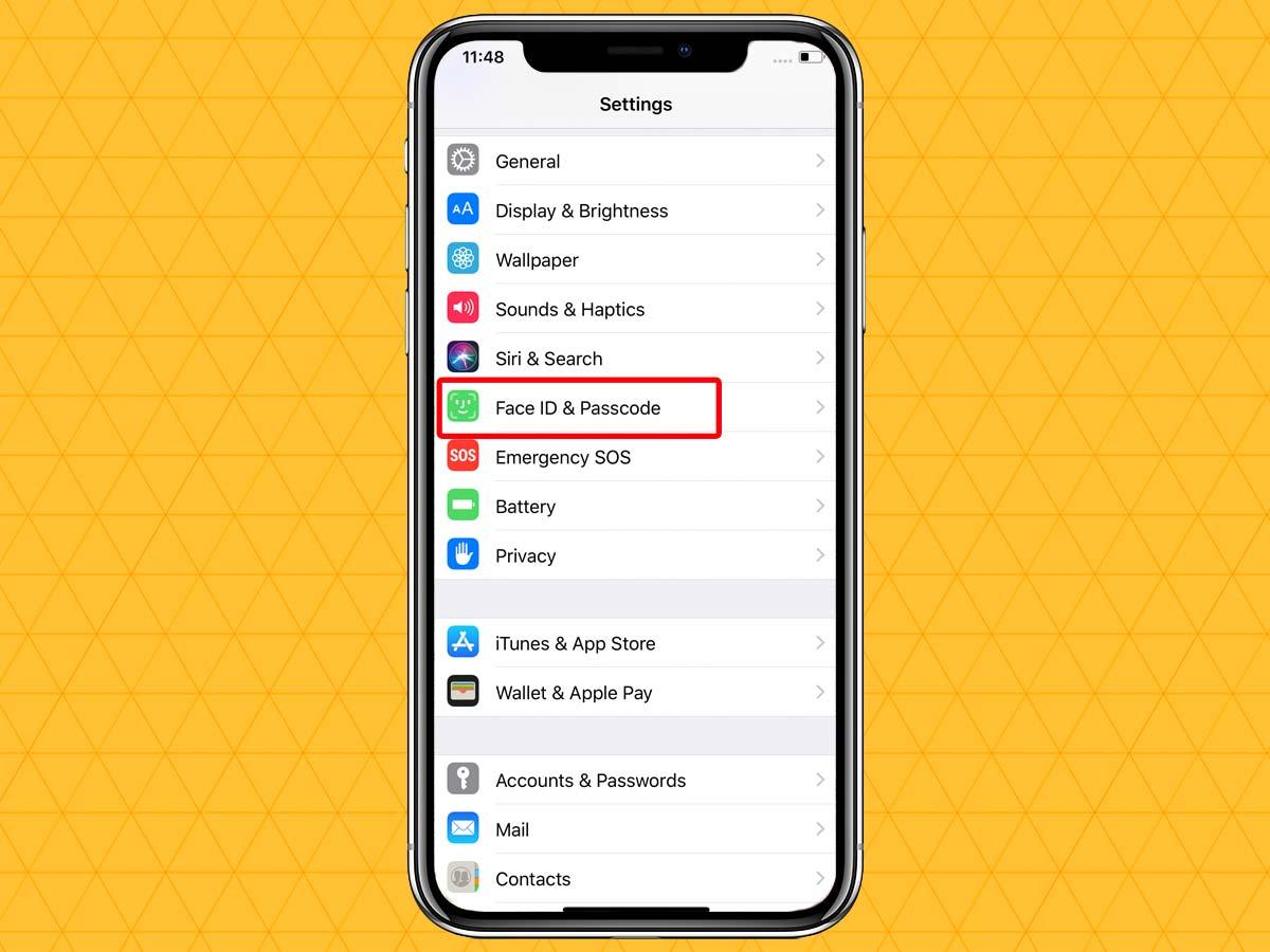 Passcode trên iPhone XR, XS, XS Max 2
