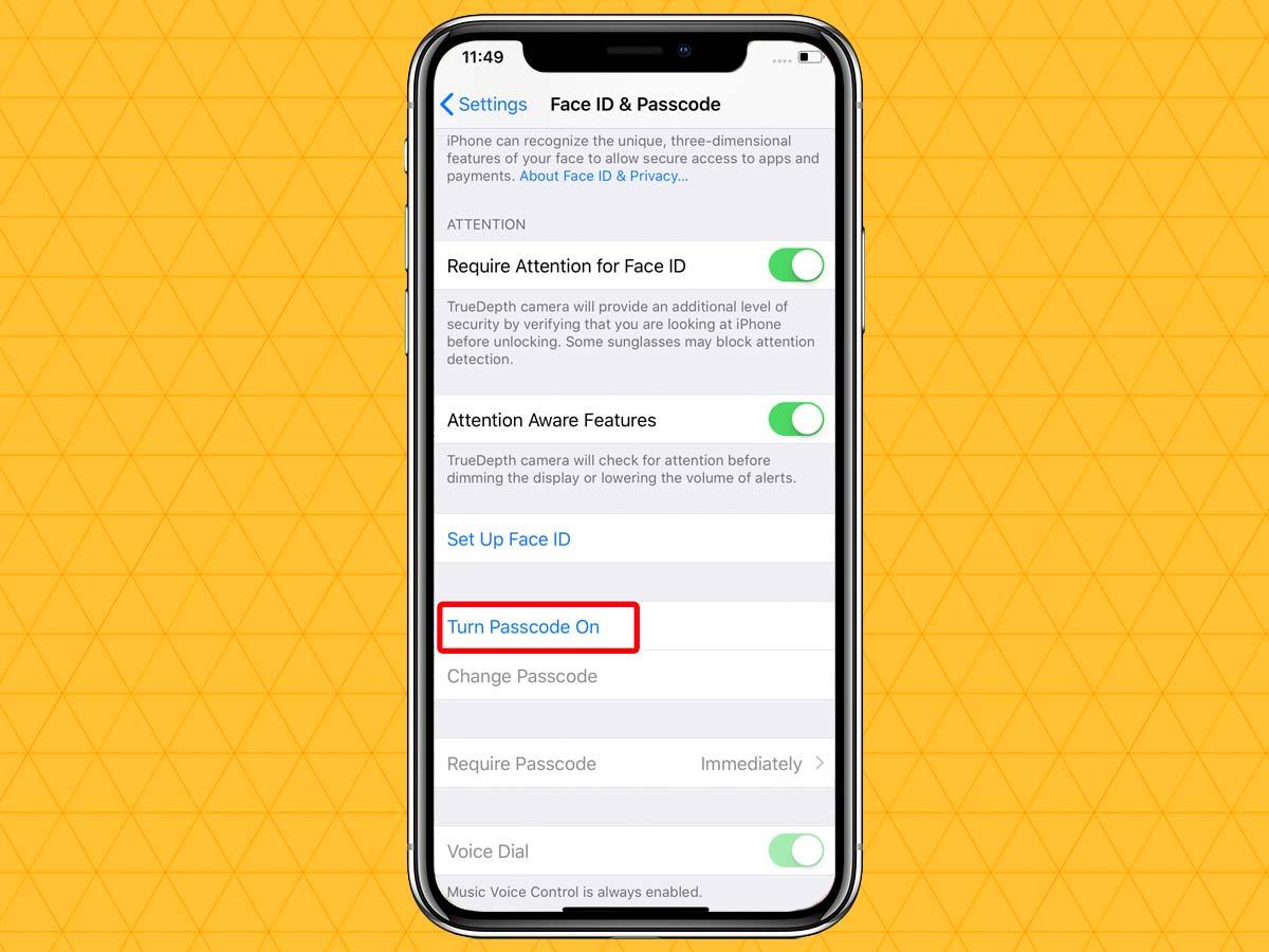 Passcode trên iPhone XR, XS, XS Max 3