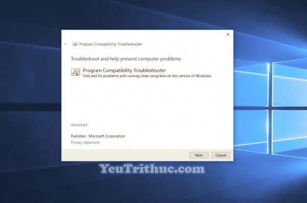 Chế độ Tương thích Ứng dụng Compatibility Mode trên Windows 10 1