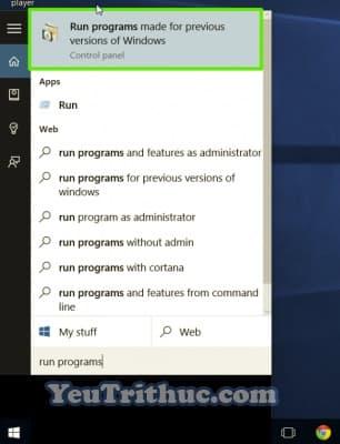 Chế độ Tương thích Ứng dụng Compatibility Mode trên Windows 10 2