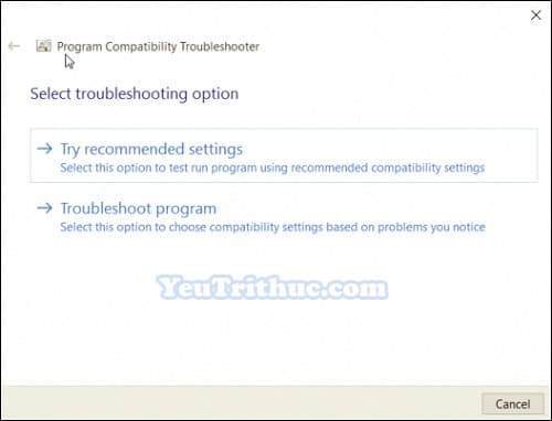 Chế độ Tương thích Ứng dụng Compatibility Mode trên Windows 10 5