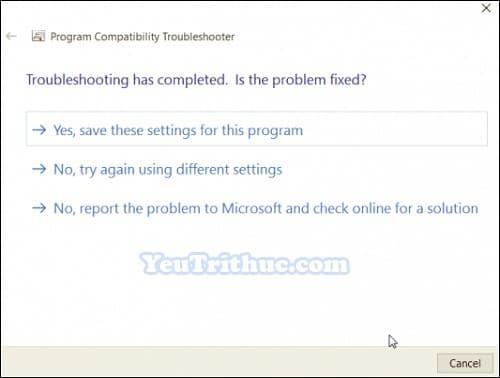 Chế độ Tương thích Ứng dụng Compatibility Mode trên Windows 10 8