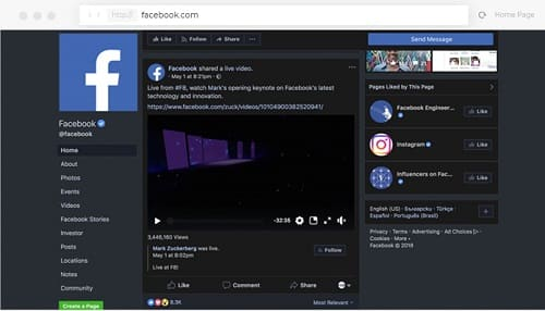 Facebook Night Mode là gì 2
