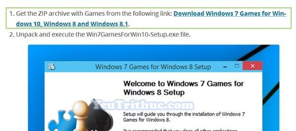 Cách tải và cài đặt game cổ điền Windows 7 cho Windows 10 2