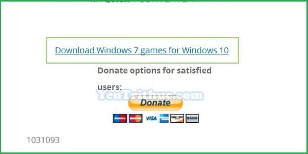 Cách tải và cài đặt game cổ điền Windows 7 cho Windows 10 3