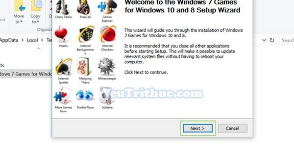 Cách tải và cài đặt game cổ điền Windows 7 cho Windows 10 9