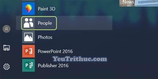 Cách thêm danh bạ Contract vào menu Start trong Windows 10 3