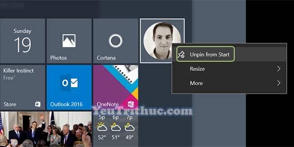 Cách thêm danh bạ Contract vào menu Start trong Windows 10 7