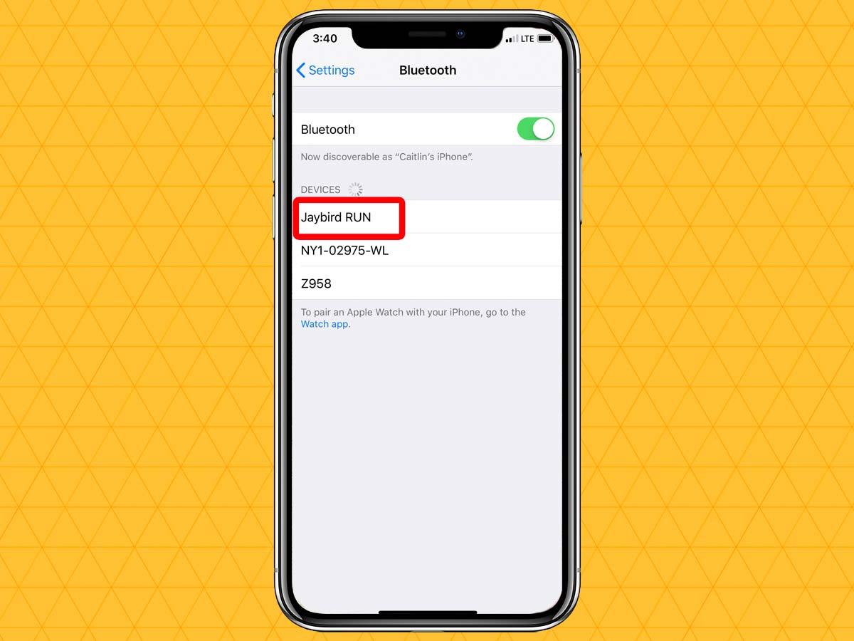 Cách kết nối tai nghe không dây qua Bluetooth trên iPhone XS, XR 5