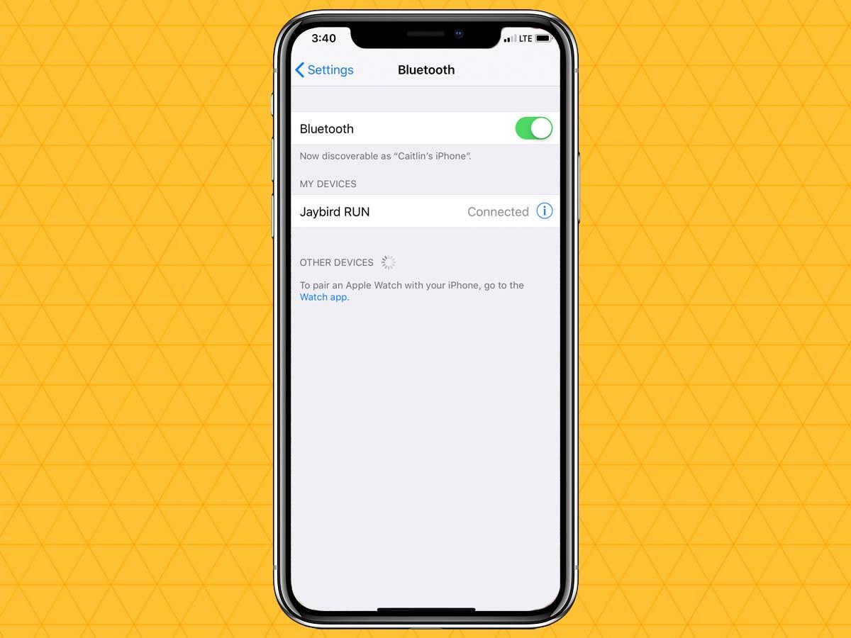 Cách kết nối tai nghe không dây qua Bluetooth trên iPhone XS, XR 6