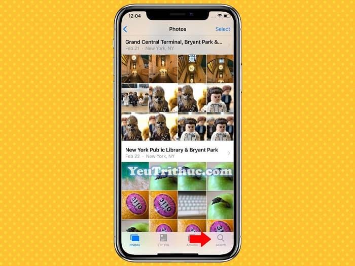 Cách tìm kiếm hình ảnh Search mới trong Photos trên iOS 12 1