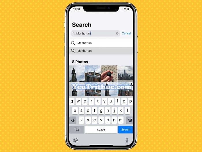 Cách tìm kiếm hình ảnh Search mới trong Photos trên iOS 12 2