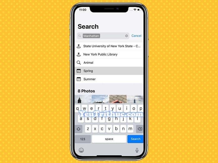 Cách tìm kiếm hình ảnh Search mới trong Photos trên iOS 12 3