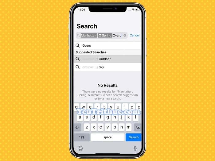 Cách tìm kiếm hình ảnh Search mới trong Photos trên iOS 12 4