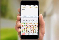 Cách sử dụng biểu tượng cảm xúc Emoji trên iOS 12 4