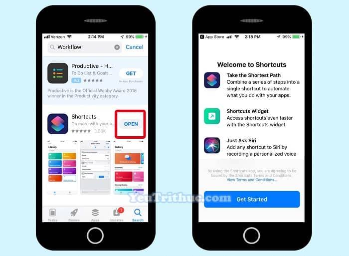 Cách download tải ứng dụng phím tắt Shortcuts dành cho iOS 12 5