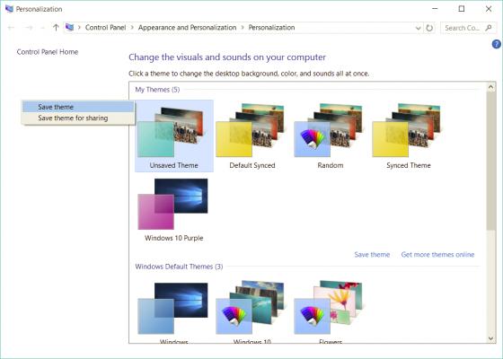 Cách tự tạo giao diện Theme riêng tùy chỉnh trên Windows 10 7