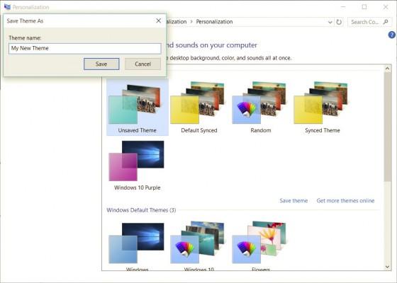 Cách tự tạo giao diện Theme riêng tùy chỉnh trên Windows 10 8