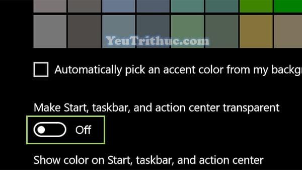 Cách vô hiệu hóa, bật tắt hiệu ứng trong suốt trên Windows 10 5