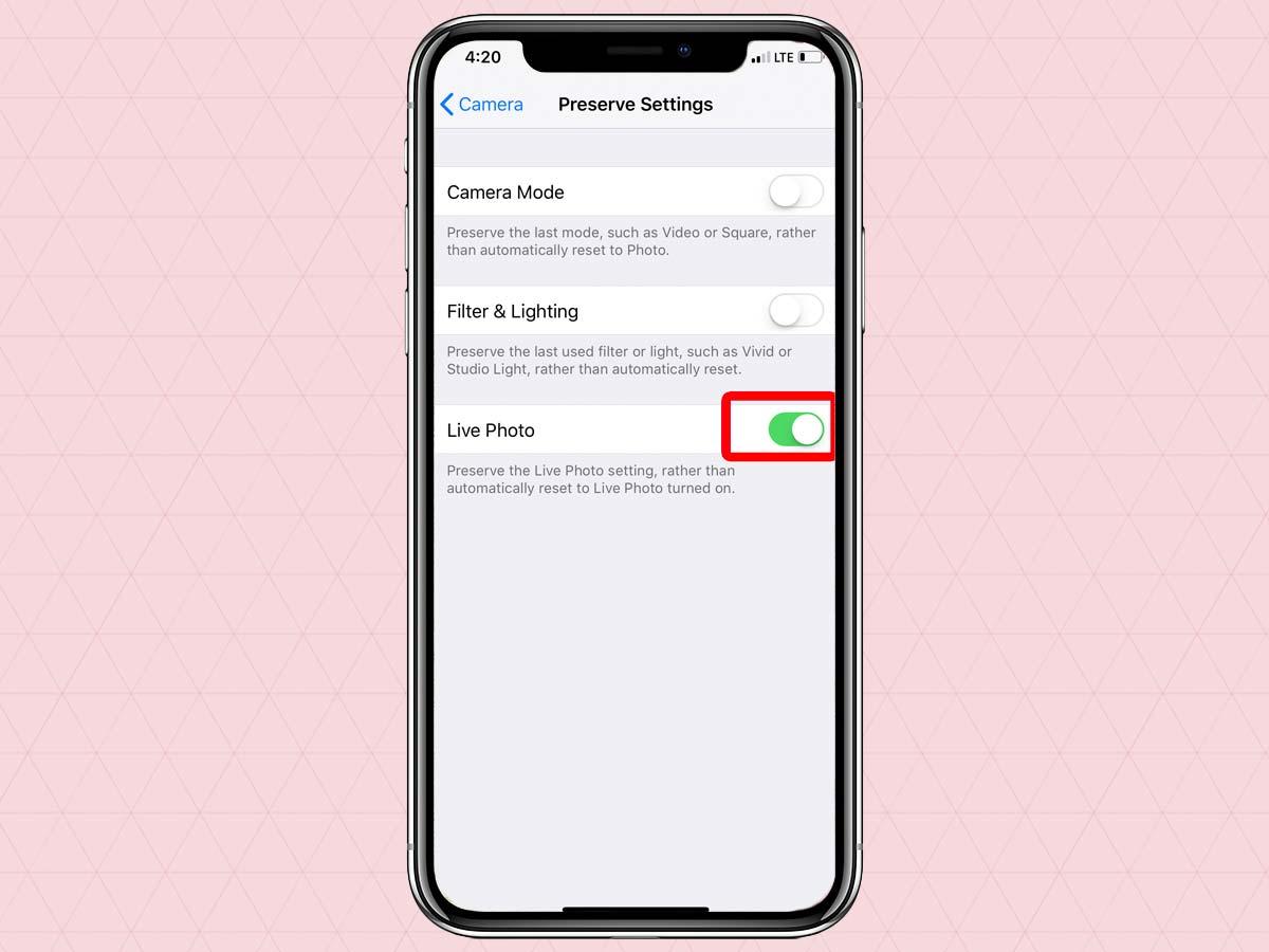Cách vô hiệu hóa, tắt tính năng Live Photo trên iPhone XS, XR, XS Max 6