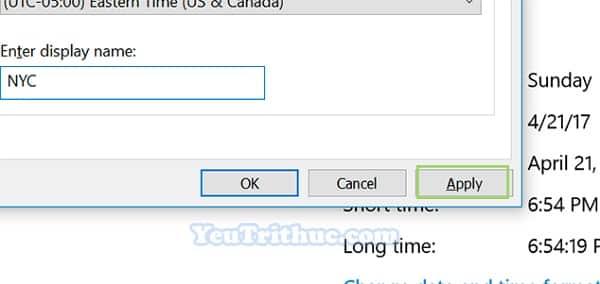 Cách hiển thị đồng hồ nhiều múi giờ Time Zone trên Windows 10 8