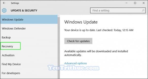 Cách truy cập vào BIOS trên Windows 10 trực tiếp trong hệ điều hành 4