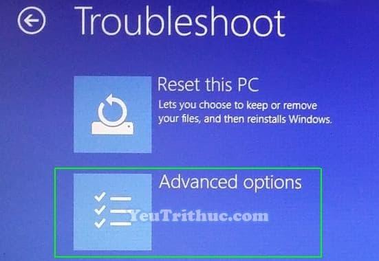 Cách truy cập vào BIOS trên Windows 10 trực tiếp trong hệ điều hành 7