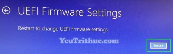 Cách truy cập vào BIOS trên Windows 10 trực tiếp trong hệ điều hành 9