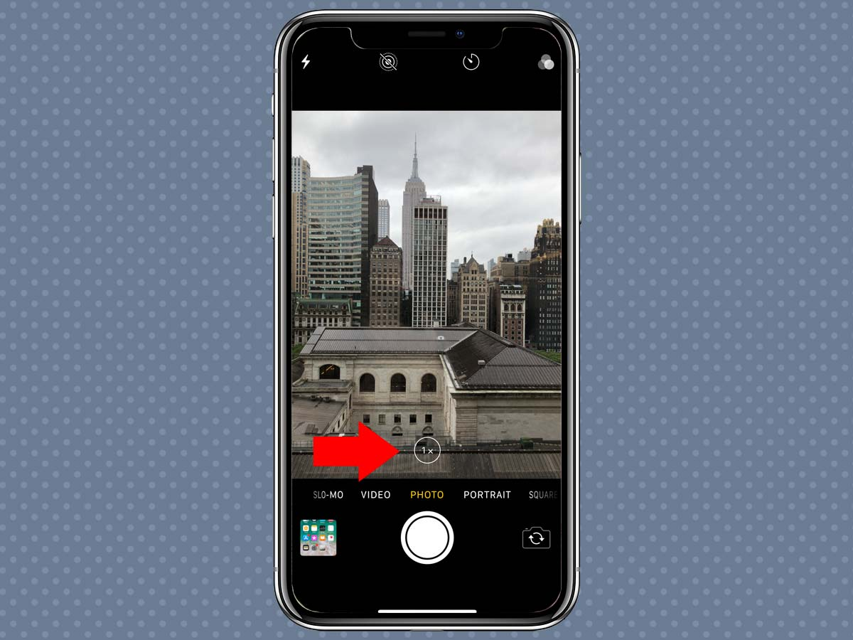 Cách sử dụng Zoom quang học, kỹ thuật số iPhone XS, iPhone X 2
