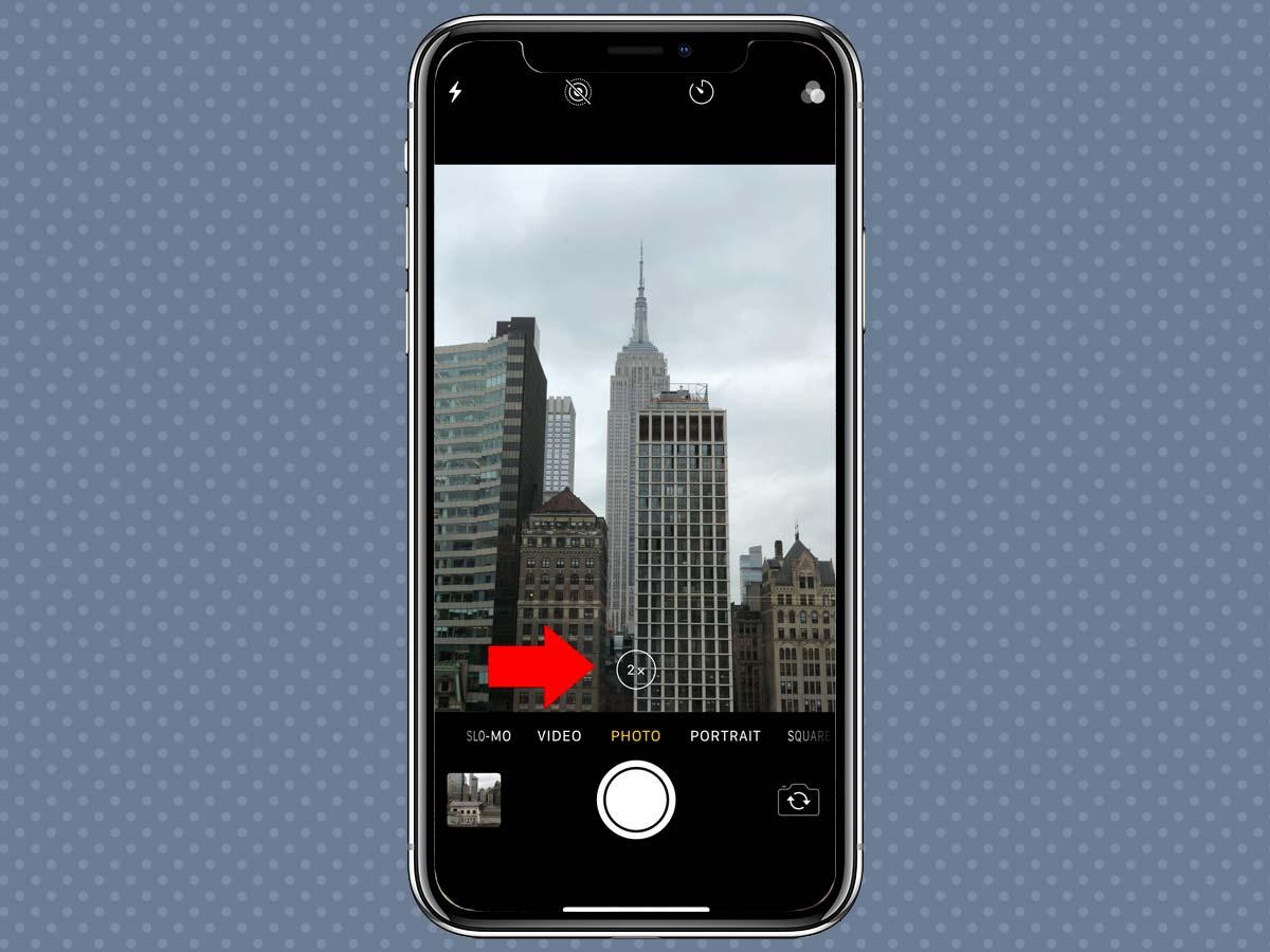 Cách sử dụng Zoom quang học, kỹ thuật số iPhone XS, iPhone X 3