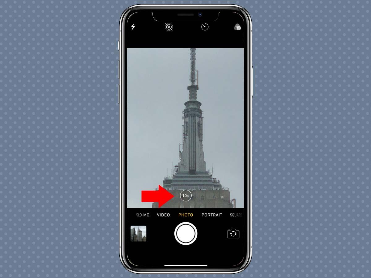 Cách sử dụng Zoom quang học, kỹ thuật số iPhone XS, iPhone X 4