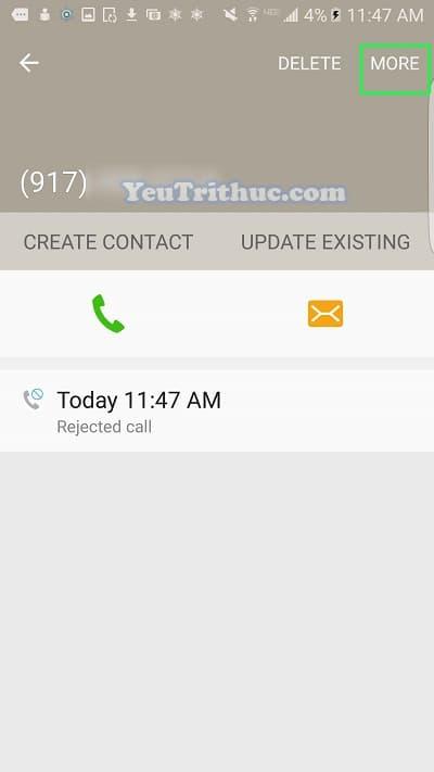 Cách block số điện thoại chặn cuộc gọi trên Galaxy S7, S7 Edge 4