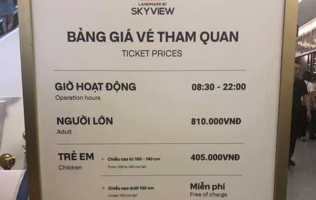 Giá vé lên đài quan sát Landmark 81 SkyView cao nhất Việt Nam 3