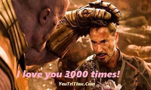 I love you 3000 times là gì với người sắt Tony Stark trong Endgame