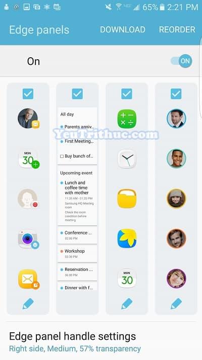Cách thiết lập cài đặt màn hình cong ở cạnh Galaxy S7 Edge 26