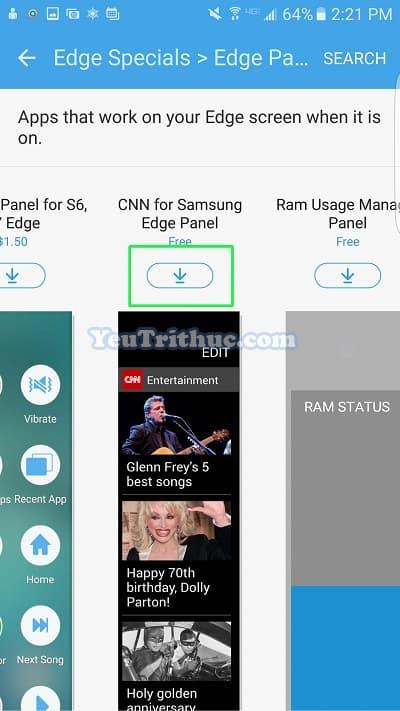 Cách thiết lập cài đặt màn hình cong ở cạnh Galaxy S7 Edge 28