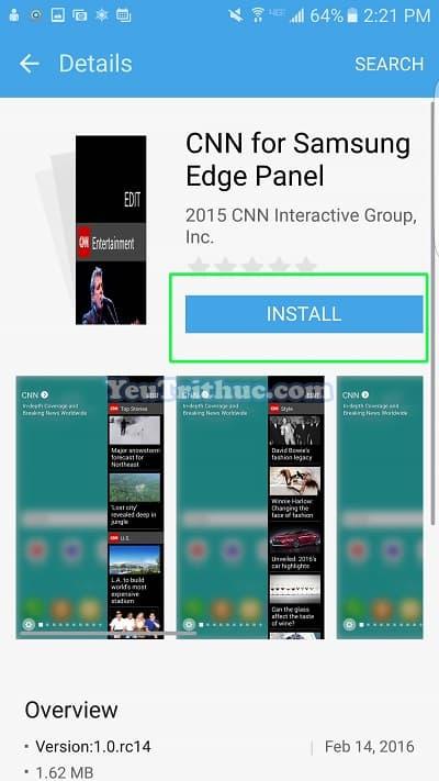 Cách thiết lập cài đặt màn hình cong ở cạnh Galaxy S7 Edge 29