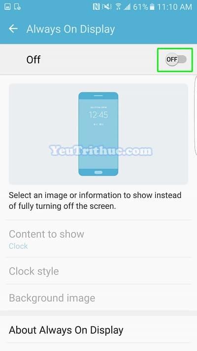 Cách bật tắt, thiết lập Always On Display trên Galaxy S7, S7 Edge 5